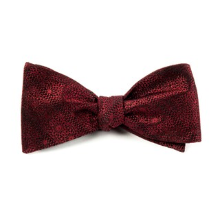 interlaced burgundy bow ties