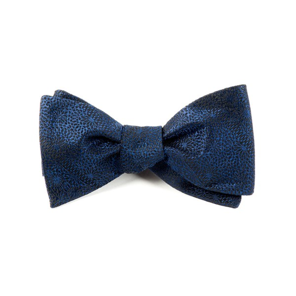 Navy Interlaced Bow Tie
