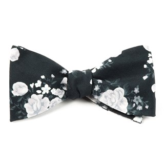 hinterland floral black bow ties