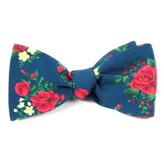 hinterland floral navy bow ties