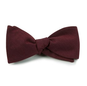 Astute Solid Burgundy Bow Ties
