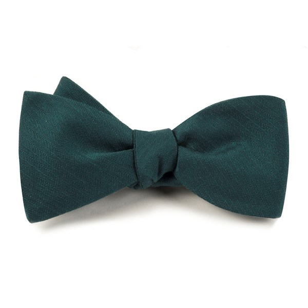 Green Teal Astute Solid Bow Tie