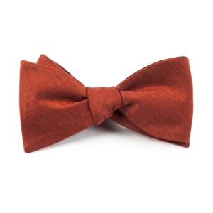 astute solid orange bow ties