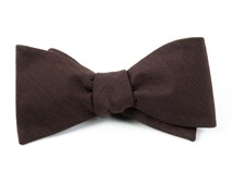 BOW TIES - ASTUTE SOLID - CHOCOLATE