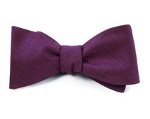 Bow Ties - Astute Solid - Plum