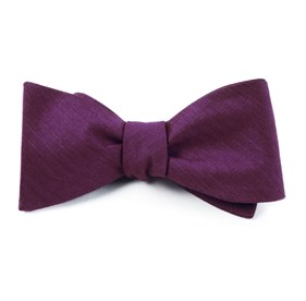 Astute Solid Plum Bow Ties
