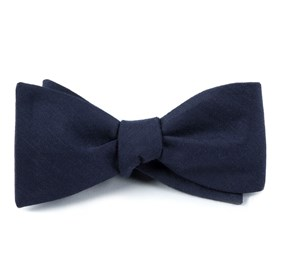Astute Solid Navy Bow Ties