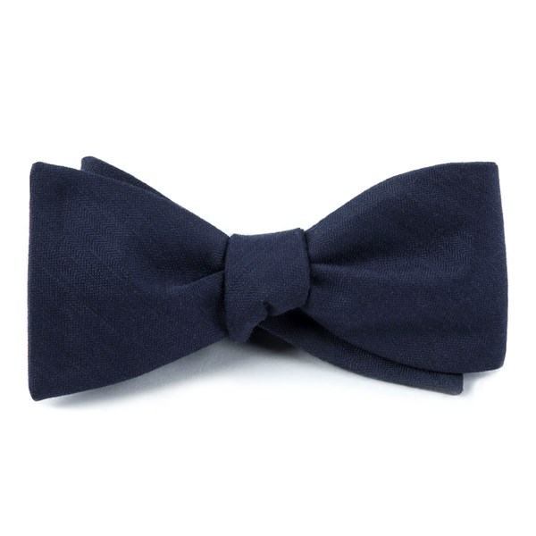 Navy Astute Solid Bow Tie