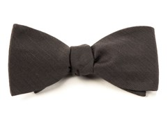 BOW TIES - ASTUTE SOLID - CHARCOAL