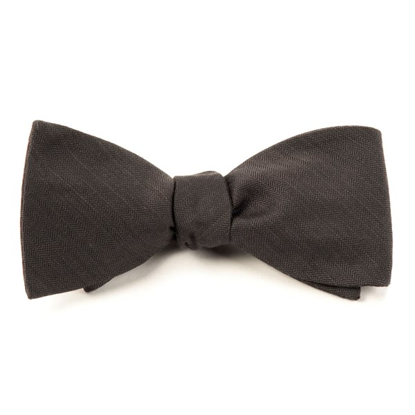 Charcoal Astute Solid Bow Tie