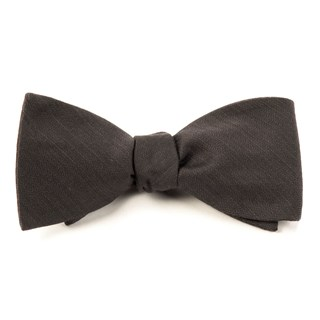 astute solid charcoal bow ties