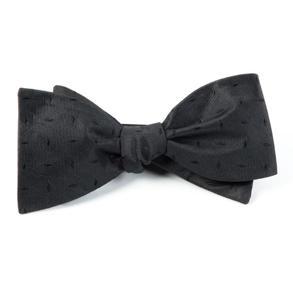 Black Industry Solid Bow Tie