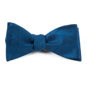 industry solid navy bow ties