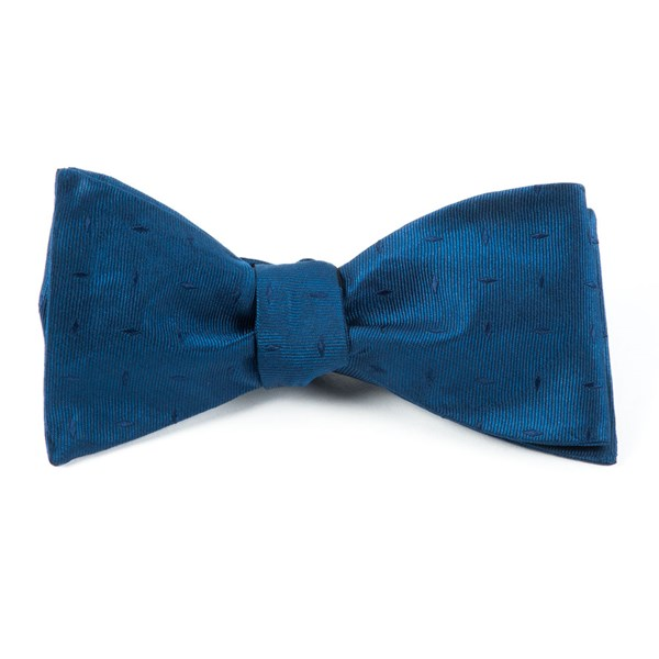 Navy Industry Solid Bow Tie