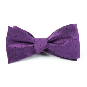 industry solid plum bow ties
