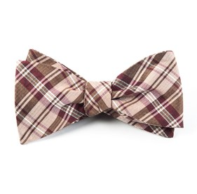 Bronze Narrative Plaid bow ties