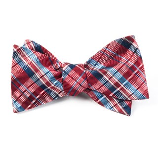 Legacy Plaid Red Bow Tie