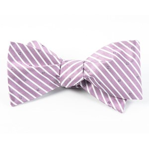 arbor stripe wisteria bow ties