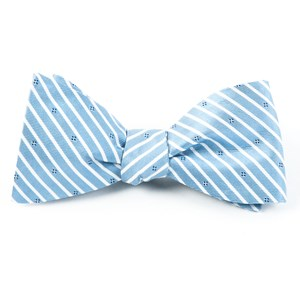 arbor stripe blue bow ties