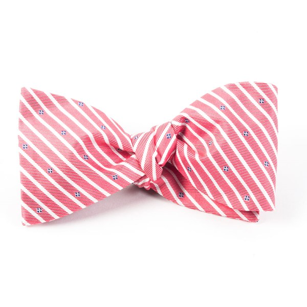 Red Arbor Stripe Bow Tie