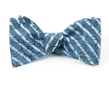 Bow Ties - Cascade Floral - Blue