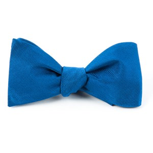 grosgrain solid classic blue bow ties