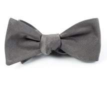 Bow Ties - Grosgrain Solid - Titanium