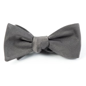 grosgrain solid titanium bow ties