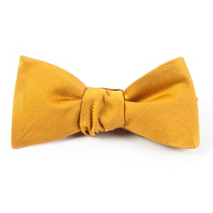 grosgrain solid mustard bow ties