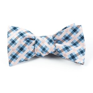power checks blush pink bow ties