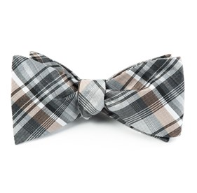 Titanium Band Of Plaid bow ties