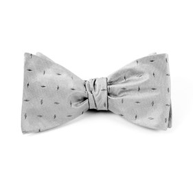 Silver Industry Solid bow ties