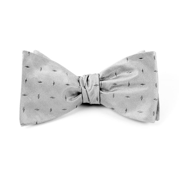 Silver Industry Solid Bow Tie