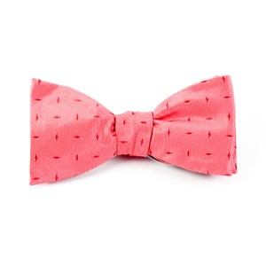 industry solid light red bow ties