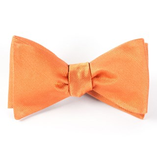 grosgrain solid orange bow ties
