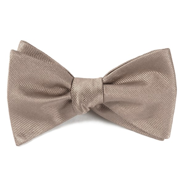 Champagne Grosgrain Solid Bow Tie