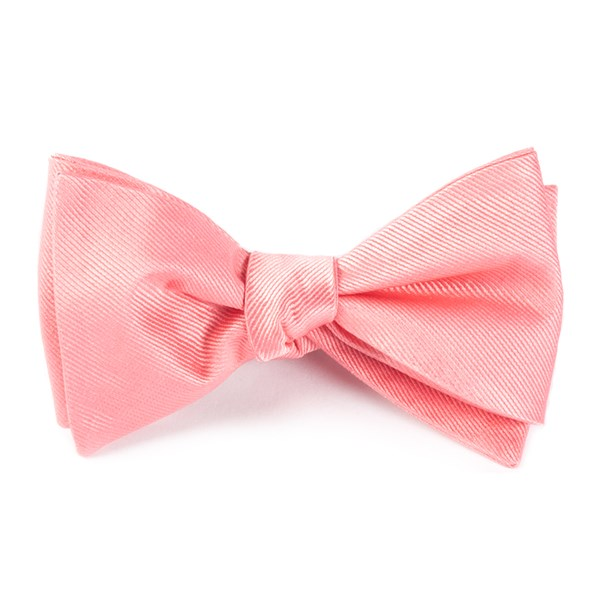 Spring Pink Grosgrain Solid Bow Tie