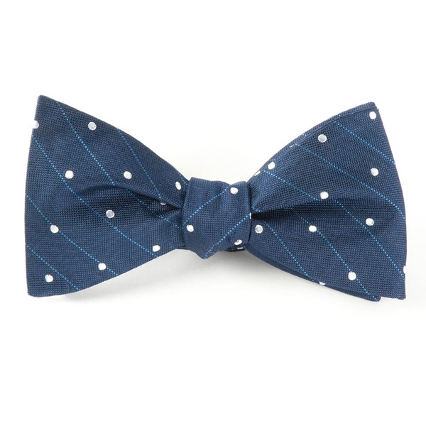 Navy Ringside Dots Bow Tie