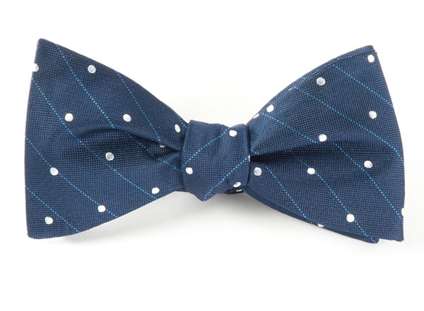 Ringside Dots Navy Bow Tie