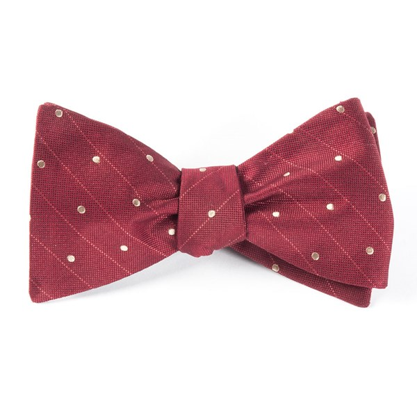 Burgundy Ringside Dots Bow Tie