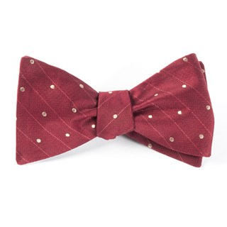 ringside dots burgundy bow ties