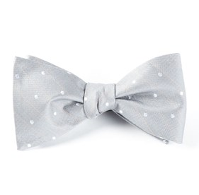 Ringside Dots Silver Bow Ties