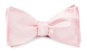 Bow Ties - Mini Dots - Blush Pink
