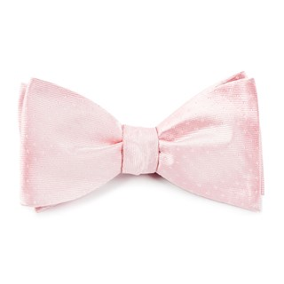 mini dots blush pink bow ties