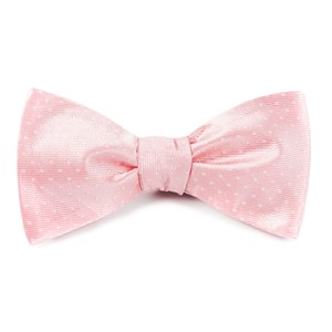 mini dots light pink bow ties