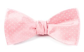 Bow Ties - Mini Dots - Salmon Pink