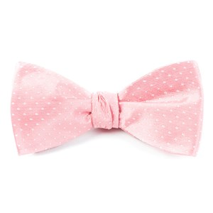 mini dots salmon pink bow ties