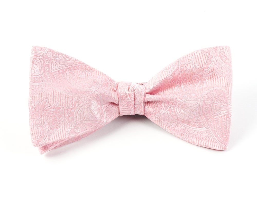90052946f5b4 Blush Pink Twill Paisley Bow Tie   Ties, Bow Ties, and Pocket ...