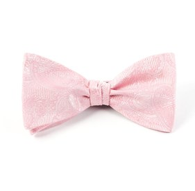 Blush Pink Twill Paisley bow ties