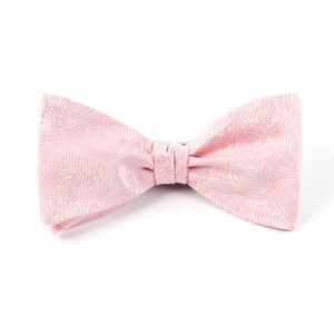 twill paisley blush pink bow ties